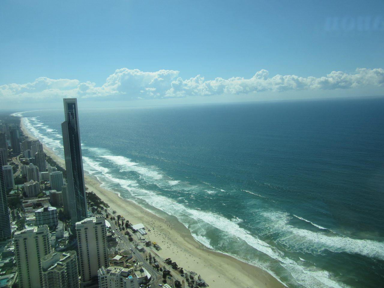 展望台から見たビーチ