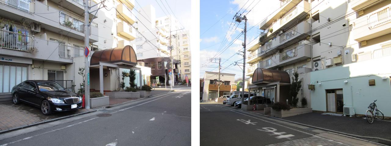 CLLエクセレンス松が枝Ⅰ左から入口写真と右から入口写真